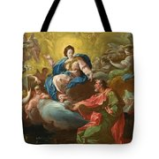 Saint James Being Visited By The Virgin Tote Bag