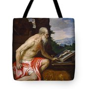 Saint Jerome In The Wilderness Tote Bag