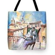 Saint John Of The Cross In Salamanca Tote Bag