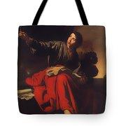 Saint John The Evangelist At Patmos Tote Bag