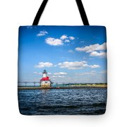 Saint Joseph Lighthouse And Pier Picture Tote Bag