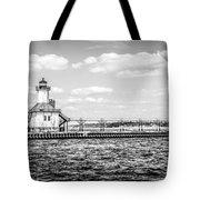 Saint Joseph Lighthouse Retro Panoramic Photo Tote Bag