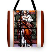 Saint Joseph  Stained Glass Window Tote Bag by Rose Santuci-Sofranko