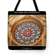 Saint Josephs Cathedral Stained Glass Window Buffalo New York Tote Bag