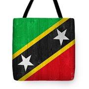 Saint Kitts And Nevis Flag Tote Bag