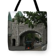 Saint Louis Gate In Ramparts Of Quebec City Tote Bag