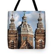 Saint Nicholas Church In Amsterdam Tote Bag
