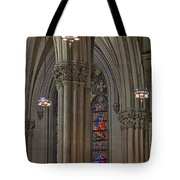 Saint Patrick's Cathedral Stained Glass Window Tote Bag