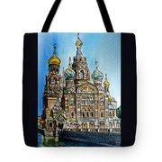 Saint Petersburg Russia The Church Of Our Savior On The Spilled Blood Tote Bag by Irina Sztukowski