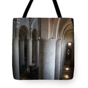 Saint Philibert Church Interior Burgundy Tote Bag