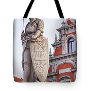Saint Roland I Riga Old Town Tote Bag