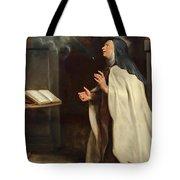 Saint Teresa Of Avila's Vision Of The Holy Spirit Tote Bag