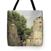 Saint-vincent Street, Montmartre Oil On Canvas Tote Bag