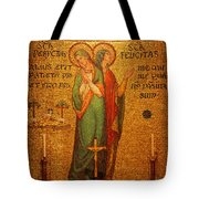Saints Perpetua And Felicitas Altar Tote Bag