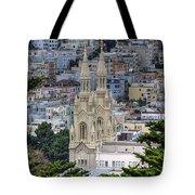 Saints Peter And Paul Church In San Francisco Tote Bag
