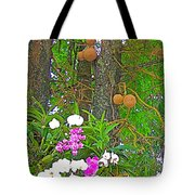 Sala Tree And Orchids At Buddhist University In Chiang Mai-thail Tote Bag