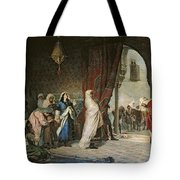 Salida Del Boabdil, At The Alhambra Oil On Canvas Tote Bag