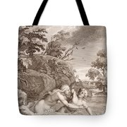 Salmacis And Hemaphroditus United In One Body Tote Bag