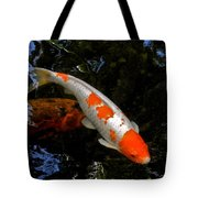 Salmon And White Koi Tote Bag