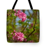 Salmon Berry Flowers Tote Bag