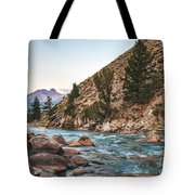 Salmon River In The Twilight Tote Bag