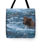 Salmon Salmon Everywhere Tote Bag