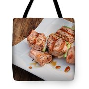Salmon Teriyaki Skewers Tote Bag