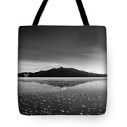 Salt Cloud Reflection Black And White Tote Bag