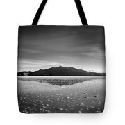 Salt Cloud Reflection Black And White Select Focus Tote Bag