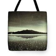 Salt Cloud Reflection Black And White Vintage Tote Bag