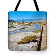 Salt Creek Trail Boardwalk In Death Valley National Park-california  Tote Bag