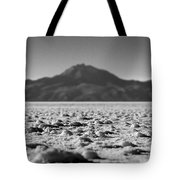 Salt Flat Surface Black And White Tote Bag