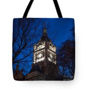 Salt Lake City And County Building At Night Tote Bag