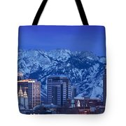 Salt Lake City Skyline Tote Bag