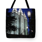 Salt Lake Mormon Temple At Night Tote Bag