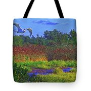 Salt Marsh Gull Tote Bag