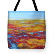 Salt Marsh In Early Autumn Tote Bag