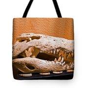 Salt Water Crocodile Skull Tote Bag