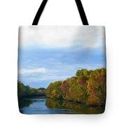Saluda River In The Fall Tote Bag