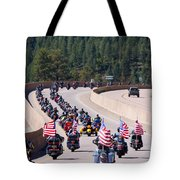 Salute To Veterans Rally Tote Bag