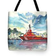 Salvage Ship In Cartagena Tote Bag