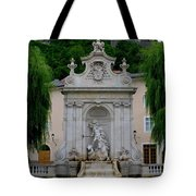 Salzburg Castle With Fountain Tote Bag
