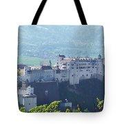 Salzburg Fortress Panorama Tote Bag