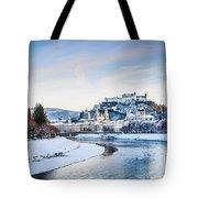 Salzburg Winter Fairy Tale Tote Bag