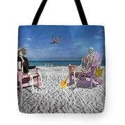 Sam And His Friend Visit Long Boat Key Tote Bag