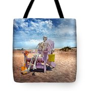 Sam Discovers Bald Head Island Tote Bag