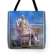 Sam Enjoys The Beach -- Again Tote Bag