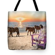 Sam Watches Over The Harem  Tote Bag by Betsy Knapp
