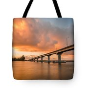 Samoa Bridge At Sunset Tote Bag