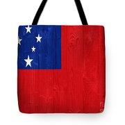 Samoa Flag Tote Bag